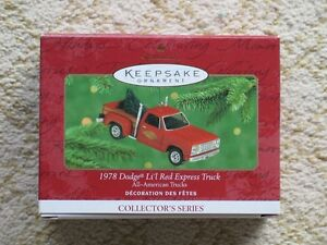 Hallmark Christmas tree Little Red Express ornament