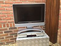 "Ferguson tv - flat-ish screen 17"" monitor with separate Sony DVD player & freeview box"