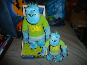 DISNEY MONSTERS UNIVERSITY SULLY PLUSH SET BRAND NEW