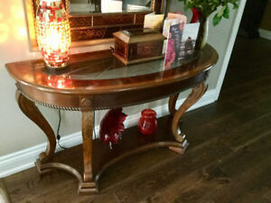 Fancy Solid Wood Sofa Table