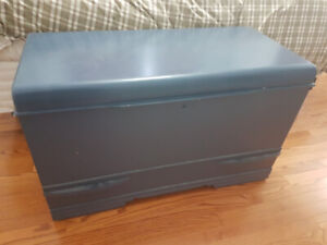 Old painted cedar chest