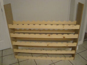 WINE RACK HOLDS UP TO 60 BOTTLES