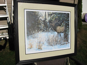 LIMITED EDITION SIGNED PRINT OF ELK BY ANDREW KISS