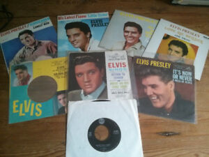 LOT OF ELVIS 45s AND SLEEVES