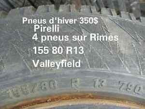 PNEUS  d'hiver  et  RIMES  155 80 R13 West Island Greater Montréal image 1
