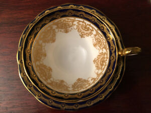 Aynsley Cobalt Cup and Saucer