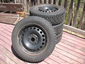 Winter Challenger Tires 195/65/R15 on Steel Rims