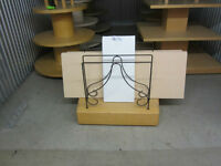 Glass and Wood Shelving & Display Stand