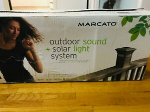Outdoor Sound + Solar Light Speaker System $150