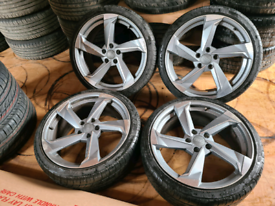"19"" TTRS Twist Alloy Wheels and Tyres. AUDI A4 A3 A5 A6 Volkswagen"
