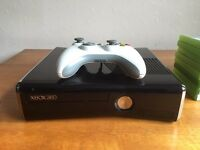 Xbox 360 Elite with games and controller