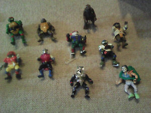 Awesome Vintage Ninja Turtle Action Figures and Vehicles