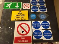 237 Fire Door stickers plus