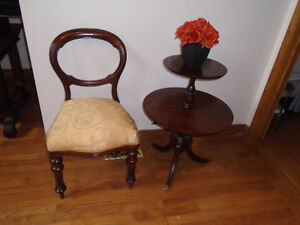 Open Balloon Back Dining Side Chair ANTIQUE VICTORIAN 1860-1901