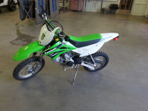 Kawasaki KLX-110 Dirt bike.