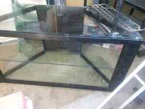 Glass top TV Stand with glass shelves MUST GO