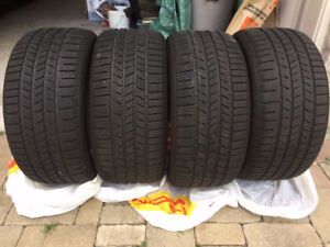 FOUR CONTINENTAL 295/35 R21 WINTER TIRES FOR SALE