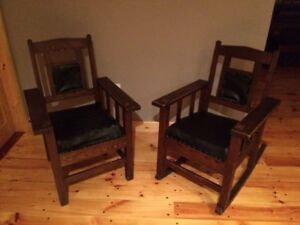 Antique Mission/Arts and Craft chairs