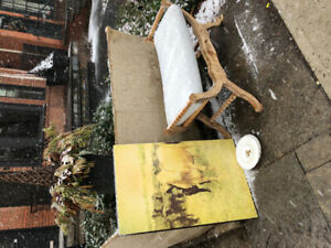 FREE! Art, ottoman, and kate spade plates!