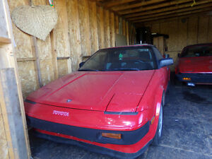 antique MR2 Toyota car