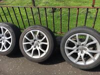 "Audi 18"" wheels and tyres"