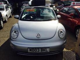 2004 Volkswagen Beetle 1.6 2004MY Cab Silver Metallic Manual