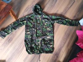 British Army Windproof Jacket - Smock - Parka - Woodland DPM Camo XL