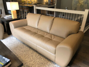 New Leather Couch Set