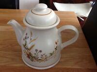 Vintage Marks & Spencer Stoneware Harvest Pattern Teapot