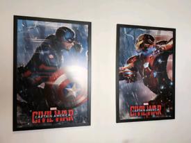 2 Large Framed Avengers Prints