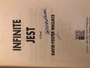 Infinite Jest David Foster Wallace Signed