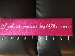 Necklace and Jewelry Hanger - Pink! $10