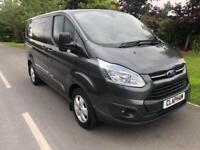 2016 16 FORD TRANSIT CUSTOM LIMITED 2.2TDCI DOUBLE CAB 125BHP 290 L1H1 1 OWNER