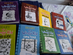 KIDS NOVELS DIARY OF A WIMPY KID BOOK 1-8
