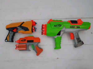 3 Dart Tag Nerf Guns with Accessories