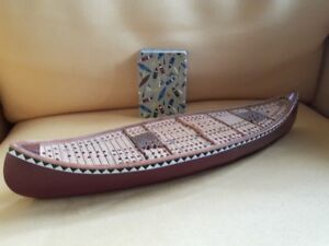 Canoe cribbage board and cards