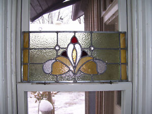 Antique reproduction stained glass panel Kawartha Lakes Peterborough Area image 1