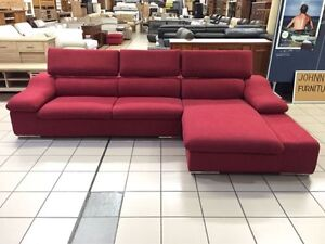 CLEARANCE 3 SEATER + CHAISE W/ADJUSTABLE HEADRESTS Logan Central Logan Area Preview