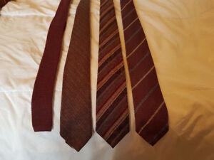 4 Narrower Woven Men's Ties