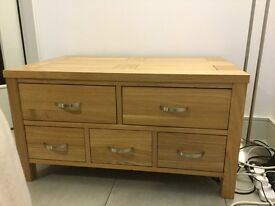 Tavistock solid oak merchants chest bought from Gillies in Perth,excellent condition.