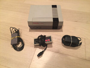 NES Nintendo System with all Hook Ups in Great Condition