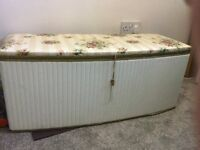 Vintage 1970's ottoman/storage chest