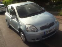 toyota yaris colour collection 998cc in blue 5dr 66k mileage look