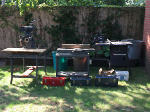 Tools for sale, table saw, radial arm, jointer, hand tools