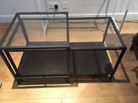IKEA Black/Glass Table Set of 2