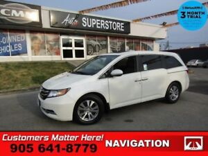 2015 Honda Odyssey EX-L  NAV ROOF LEATH CAM PWR-SLIDERS/GATE HS
