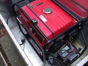 5000 Watt Honda Generator elect start charger & storage box