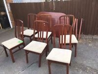 TABLE AND 6 CHAIRS SHABBY CHIC PROJECT ** FREE DELIVERY AVAILABLE **
