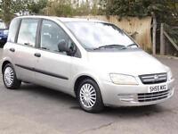 Fiat Multipla 1.9JTD Dynamic, 72 000 Miles, 2005, 6 Months AA Warranty