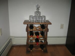 NICE SOLID WOOD WINE RACK  - HOLDS 12 BOTTLES